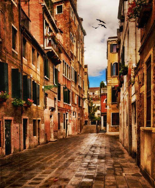 Photograph - Side Street In Venice by Mick Burkey