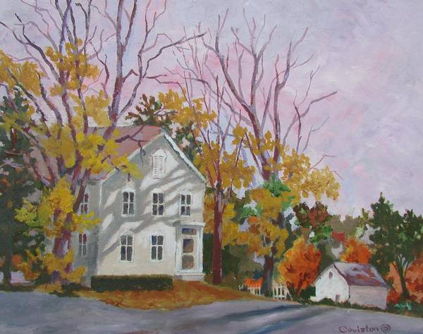 Poconos Wall Art - Painting - Side Street by Tony Caviston