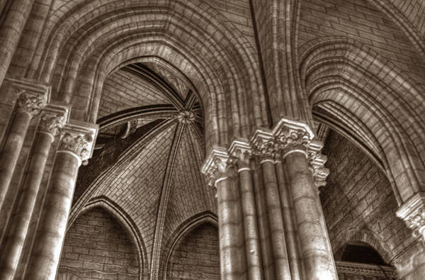 Photograph - Side Vault In Notre Dame by Michael Kirk