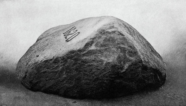 Plymouth Rock Photograph - Side View Of Plymouth Rock Ma 1620 by Vintage Images