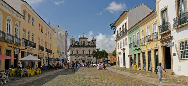 Salvador Photograph - Sidewalk Cafes On A Street by Panoramic Images