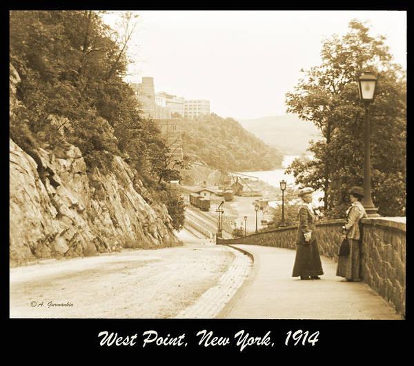Sidewalk Conversation West Point New York 1914 Art Print