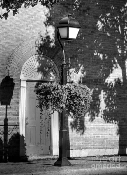 Photograph - Sidewalk Shadows Bw by Mel Steinhauer