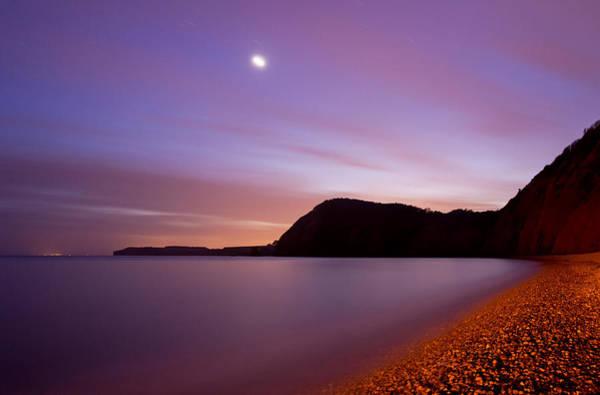 Photograph - Sidmouth And Venus by Pete Hemington