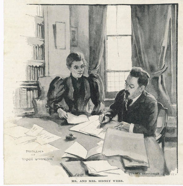 Wall Art - Drawing - Sidney And Beatrice Webb  Economists by Mary Evans Picture Library