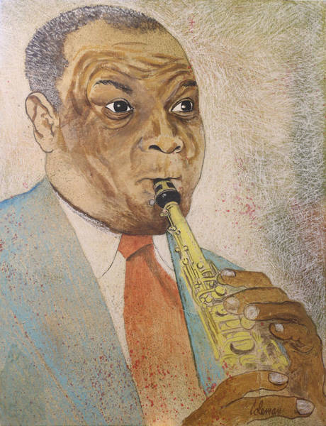 Postmark Painting - Sidney Bechet by Dave Coleman