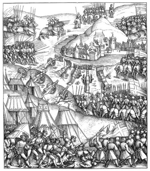 Wall Art - Painting - Siege Of A City, C1517 by Granger