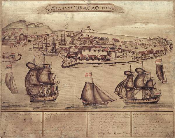 Siege Photograph - Siege Of Curacao by Library Of Congress, Geography And Map Division