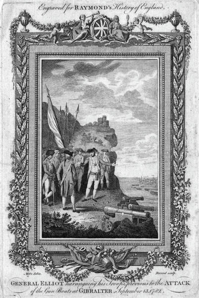 Wall Art - Painting - Siege Of Gibraltar, 1782 by Granger