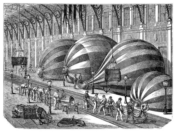 Siege Photograph - Siege Of Paris Balloon Factory by Science Photo Library