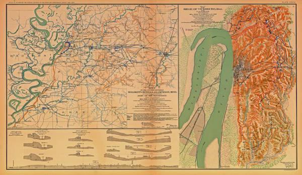 Contour Map Photograph - Siege Of Vicksburg 1863 by Mountain Dreams