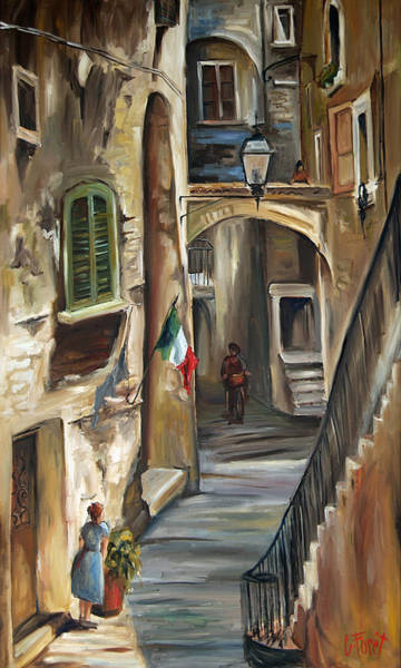 Wall Art - Painting - Siena Italy by Carole Foret
