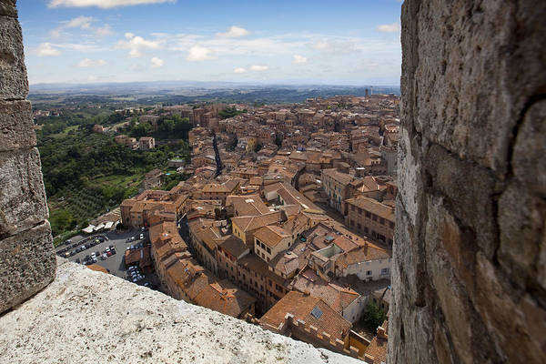 Sienna Photograph - Siena From Above by Al Hurley