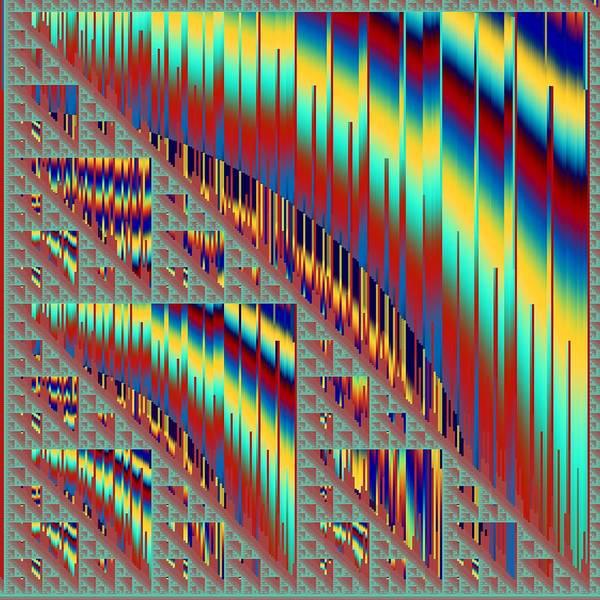 Elation Digital Art - Sierpinski Triangle #15 by Kenneth Keller