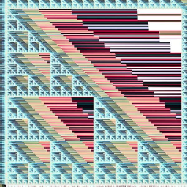 Elation Digital Art - Sierpinski Triangle #18 by Kenneth Keller
