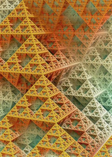 Sponge Photograph - Sierpinski Triangles by David Parker