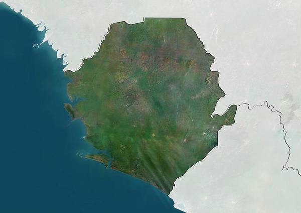 Landsat 7 Wall Art - Photograph - Sierra Leone by Planetobserver/science Photo Library
