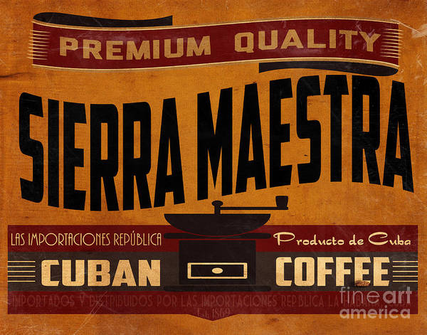 Tropics Digital Art - Sierra Maestra Crate Label by Cinema Photography