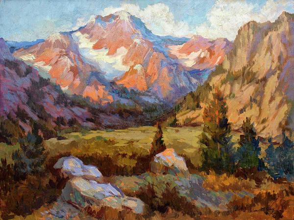 Sierra Nevada Painting - Sierra Nevada Mountains by Diane McClary