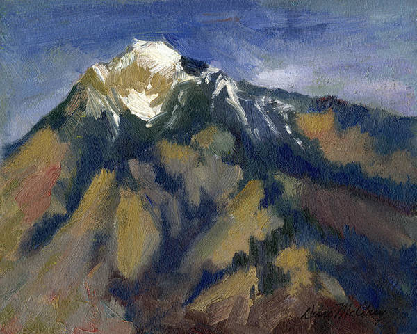 Watershed Painting - Sierra Nevadas Mount Tom by Diane McClary