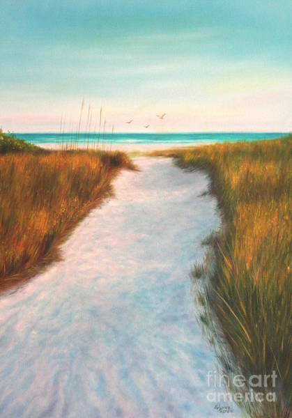 Wall Art - Painting - Siesta Key Beach Path by Gabriela Valencia