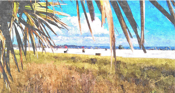 Digital Art - Siesta Key In Fall by Susan Molnar