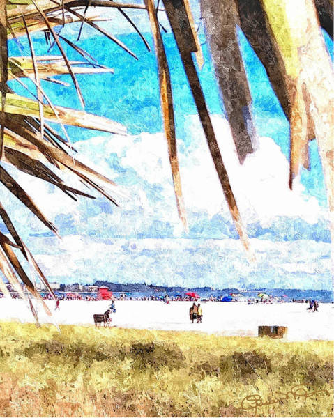 Digital Art - Siesta Key In Fall - Portrait by Susan Molnar