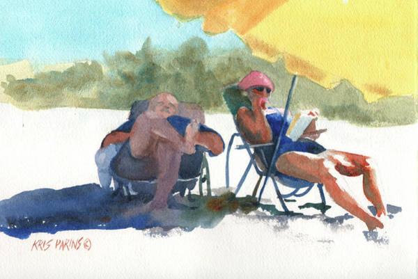 Sunglasses Painting - Siesta by Kris Parins
