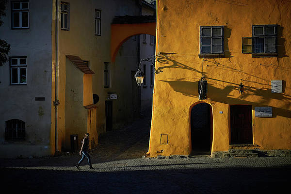 Street Photograph - Sighisoara by Cristian Lee