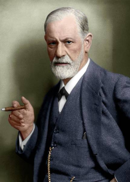 Photograph - Sigmund Freud by National Library Of Medcine/science Photo Library