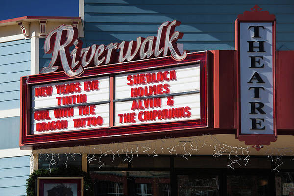 El Paso County Photograph - Sign At Riverwalk Theater Marquee by Panoramic Images