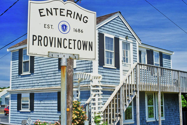Provincetown Ma Wall Art - Photograph - Sign For Provincetown, Massachusetts by Panoramic Images