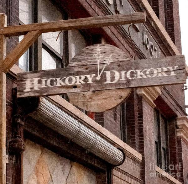 Liane Photograph - Sign - Hickory Dickory - West Bottoms by Liane Wright