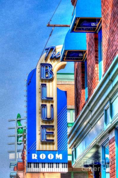Liane Photograph - Sign - The Blue Room - Jazz District by Liane Wright