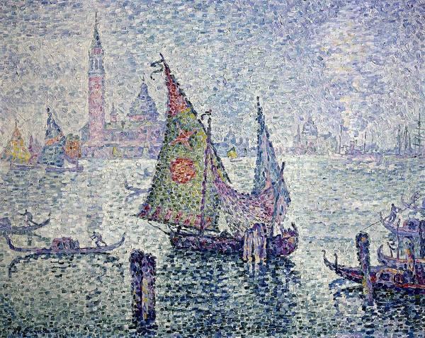 Post-impressionism Photograph - Signac, Paul 1863-1935. The Green Sail by Everett