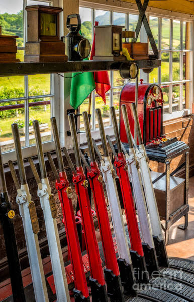 Railway Station Photograph - Signal Box by Adrian Evans