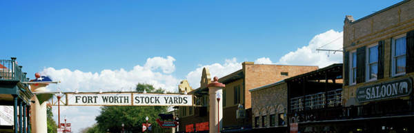 Fort Worth Photograph - Signboard Over A Street, Fort Worth by Panoramic Images