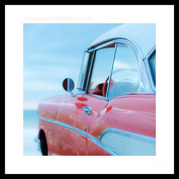 Photograph - Signed Chevy Belair At The Beach Mini by Edward Fielding