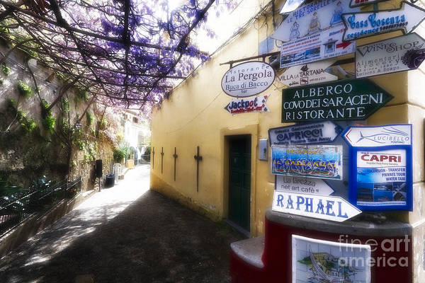 Wall Art - Photograph - Signs In Positano by George Oze