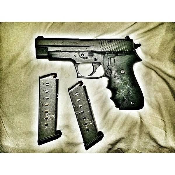 Handguns Photograph - #sigsauer #p220 #.45 #45cal #heavyduty by Crook Bladez