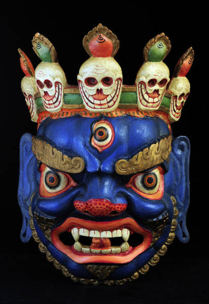 Folk Dances Photograph - Sikkim Dance Mask, India by Theodore Clutter