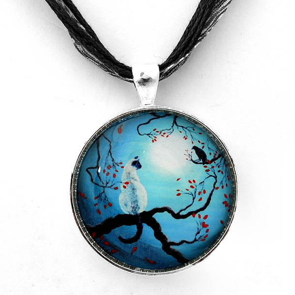 Handmade Wall Art - Jewelry - Silent Connection Pendant by Laura Iverson