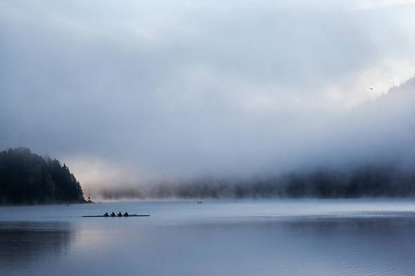 Rowing Photograph - Silent Morning by Uschi Hermann