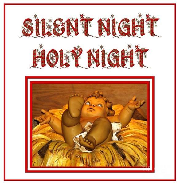 Carol Singing Photograph - Silent Night Holy Night by Rose Santuci-Sofranko