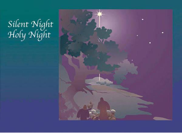 Digital Art - Silent Night by Nancy Watson