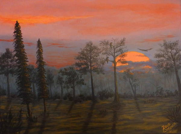 Painting - Silent Sentinels In The Sunset by Dan Wagner