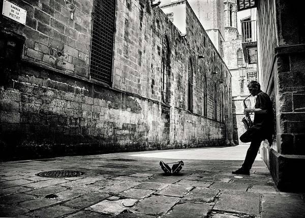 People Photograph - Silent Street by Gertjan Van Geerenstein