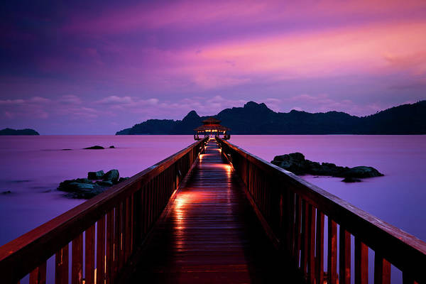 Coastline Photograph - Silent Sunset In Pulau Langkawi by 35007