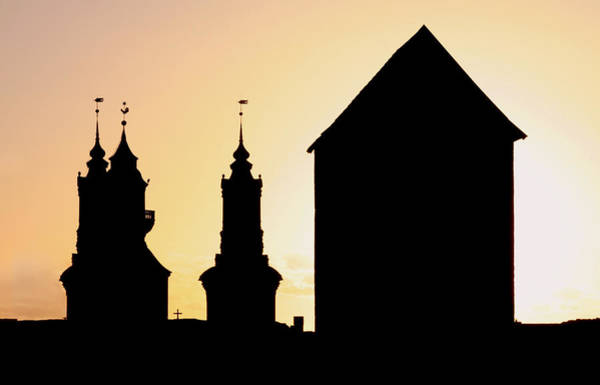 Photograph - Silhouette Church And Tower by Dreamland Media