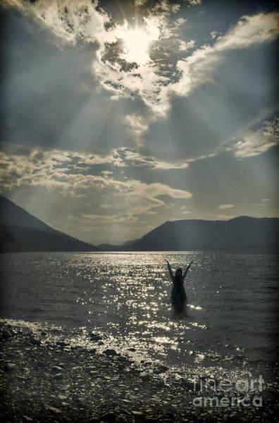 Wall Art - Photograph - Silhouette In Dramatic Light On The Lake by Jill Battaglia